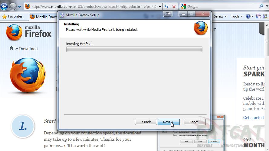 Mozilla FireFox - FatCat Servers Web Hosting