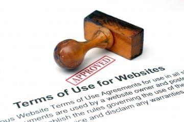 Terms of use websites