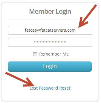 FatCat Servers Members Login Dialog